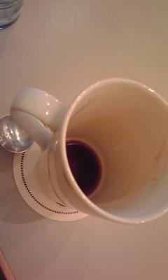 一人喫茶店でコーヒーを飲みながら…