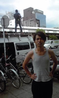 汗だく撮影3日目in横浜