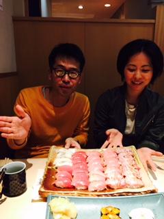 終演、そして肉と寿司